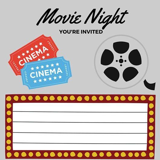 FREE Printables | Printable Movie Night Invite