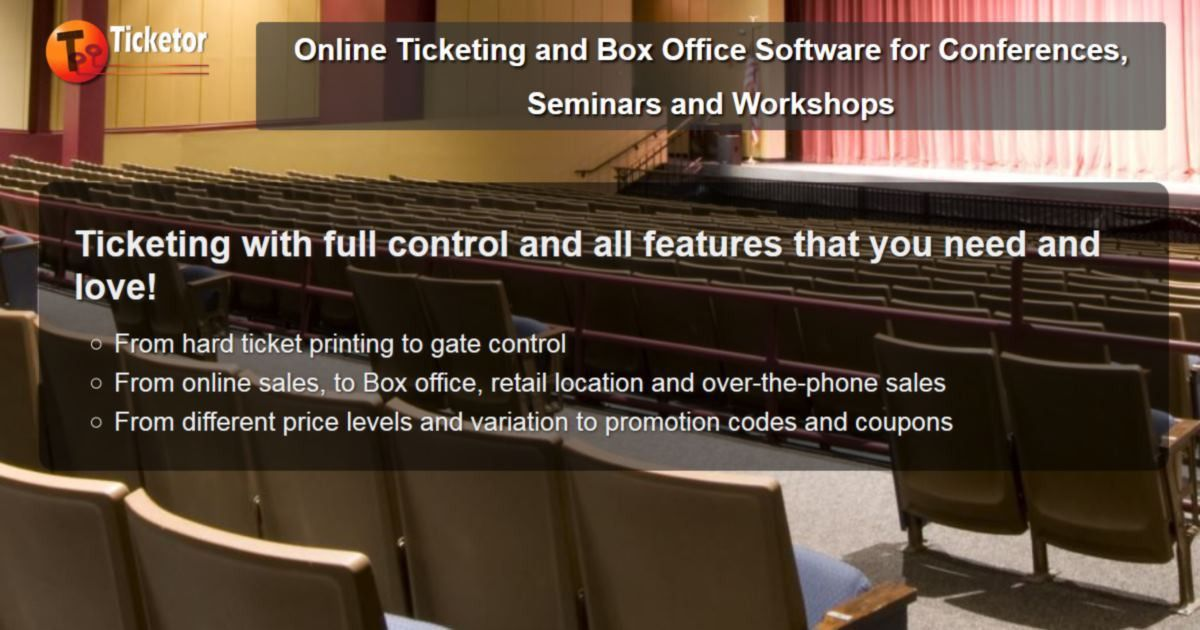 Online Ticketing and Box Office Software for Conferences, Seminars ...