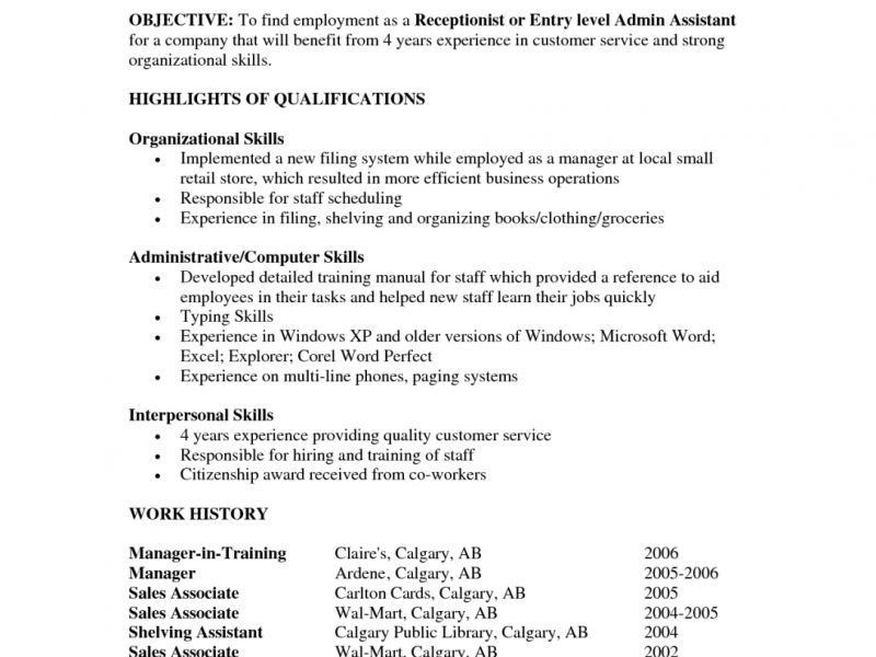 Pretty Looking Resume Objective Entry Level 15 Resume Objective ...