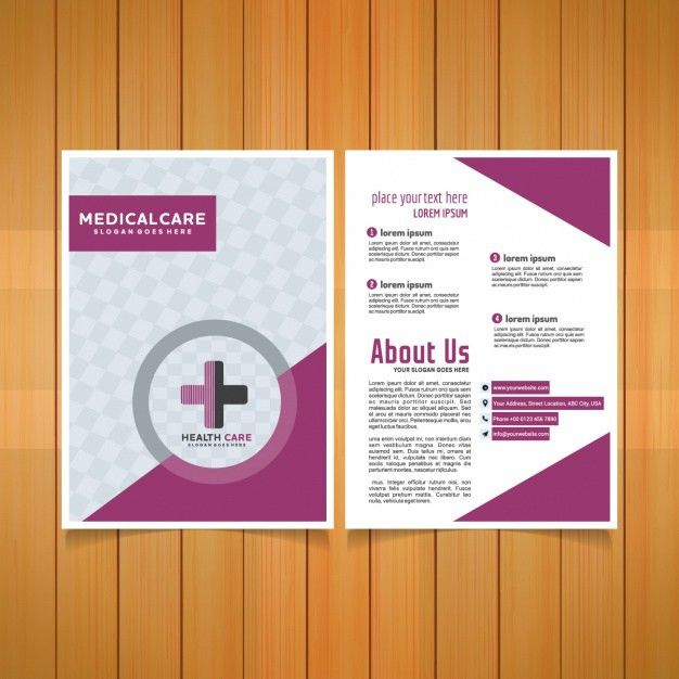 Medical brochure template Vector | Free Download