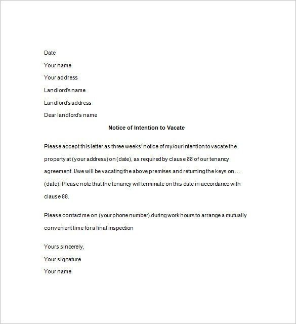 Notice to Quit Template – 18+ Free Samples, Examples, Format ...