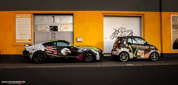Step by Step Ford Mustang Wrap - Vehicle Templates Unleashed