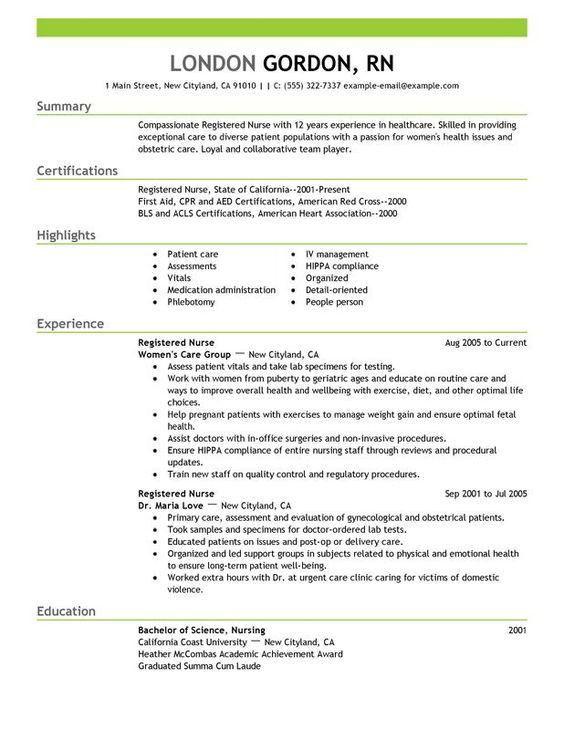 Nursing Resume Skills] Unforgettable Intensive Care Nurse Resume ...