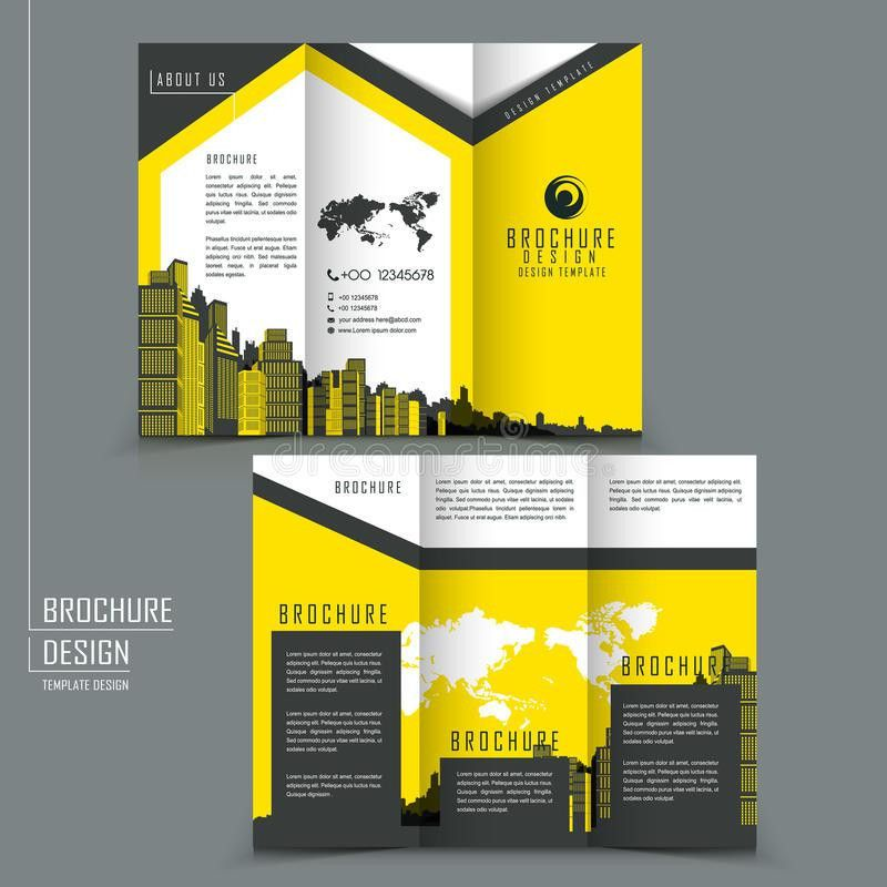 Tri-fold Template Brochure For Business Advertising Stock Vector ...