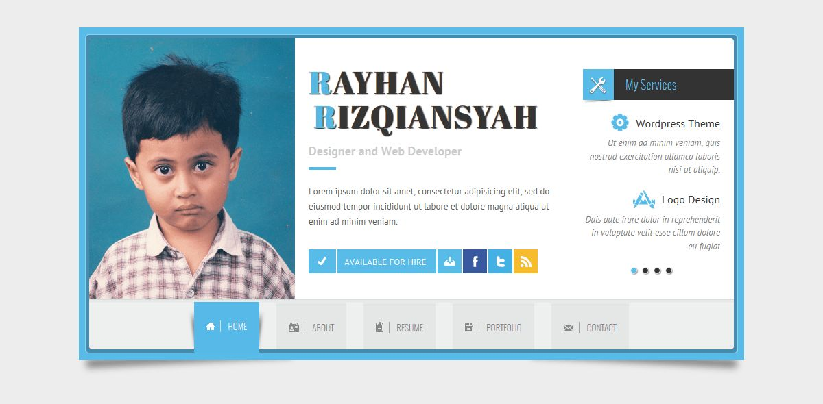 Rayhan - HTML Resume Template CV Vcard by wpamanuke | ThemeForest
