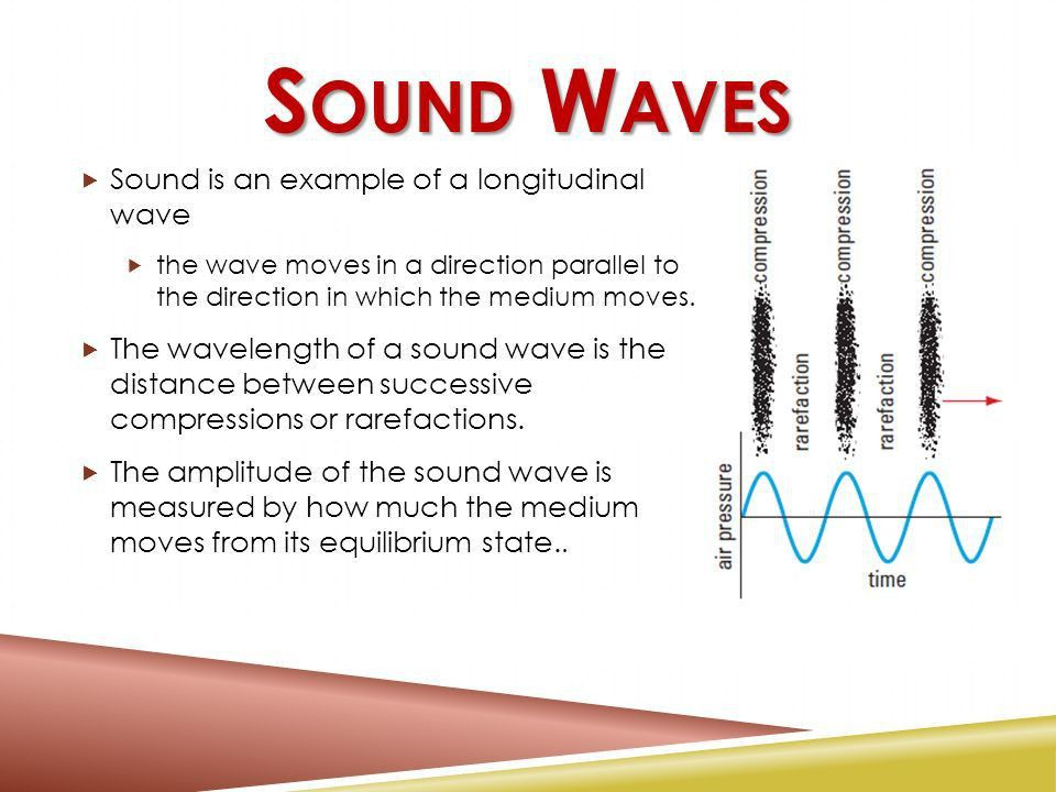 INTRODUCTION TO SOUND Longitudinal Waves. S OUND W AVES  A sound ...
