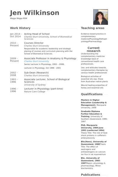 Head Of School Resume samples - VisualCV resume samples database