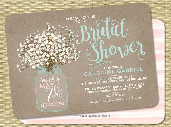 Printable Bridal Shower Invitations | Free & Premium Templates