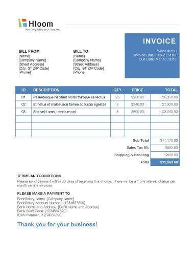 19 Blank Invoice Templates [Microsoft Word]