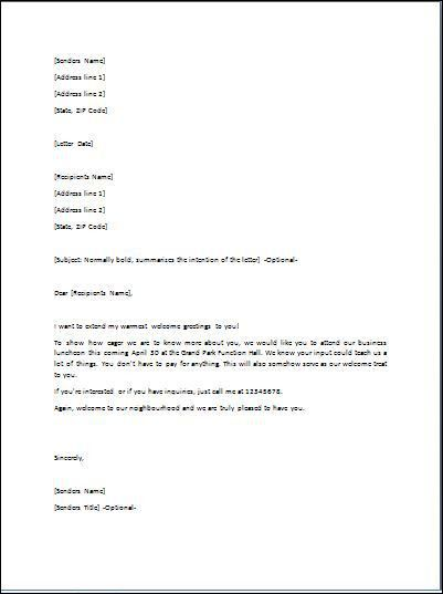 Sample Goodwill Letter Template | Formal Word Templates