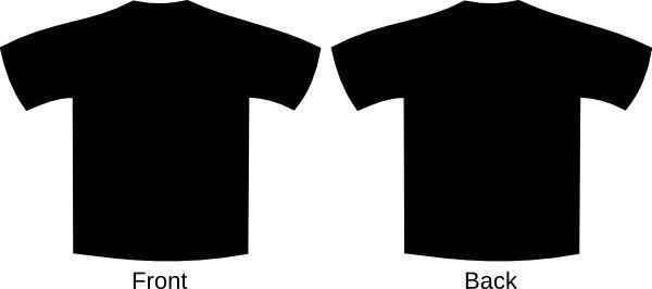 Black T-shirt Template Clip Art at Clker.com - vector clip art ...