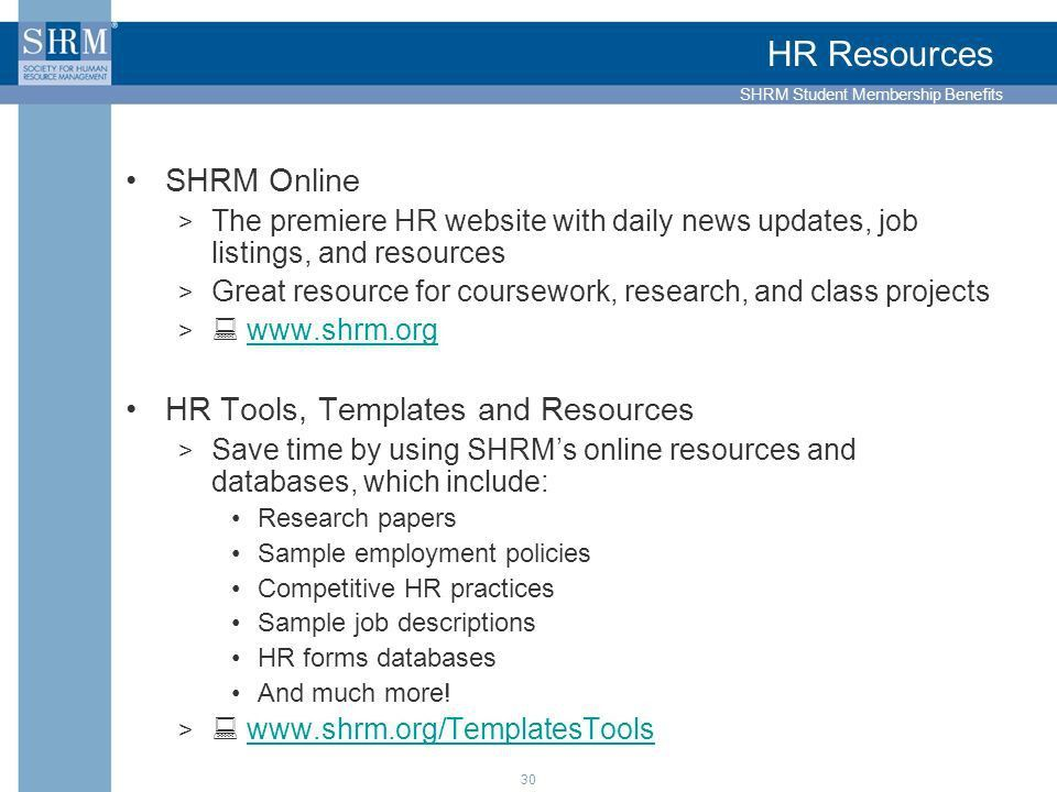 Join HR's Best SHRM Student Membership Benefits – Student Programs ...