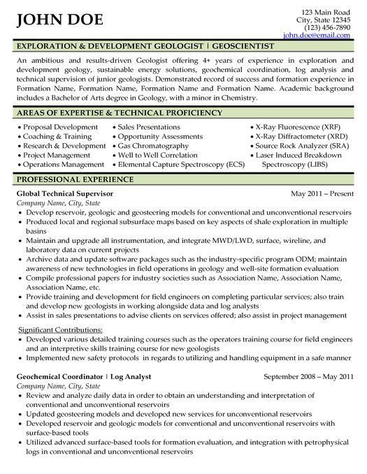 Sample Resume For Oil And Gas Industry - Gallery Creawizard.com