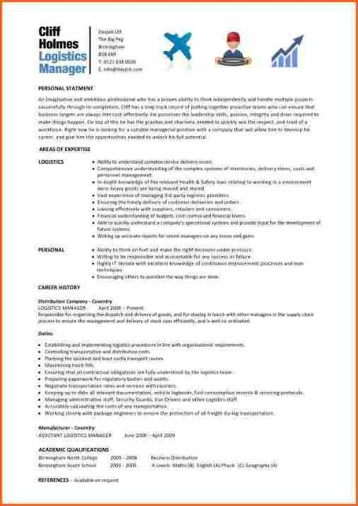 12+ warehouse and logistics cv - Budget Template Letter