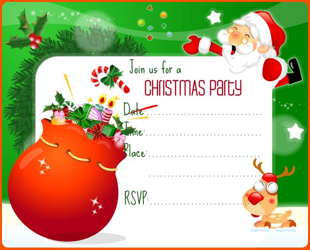 Christmas Invitation Template - Themesflip.Com