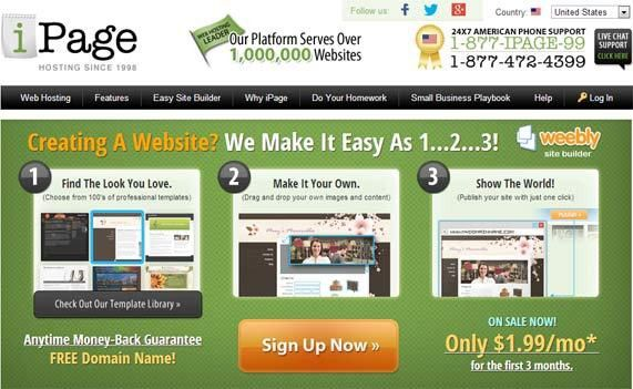 iPage Easy Site Builder | Top 100 Web Hosting