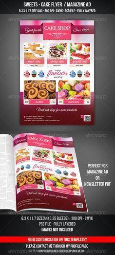 Sweets Shop Flyer / Magazine AD | Magazine ads, Magazines and ...
