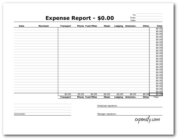 Free Excel Expense Report Template « Expensify Blog