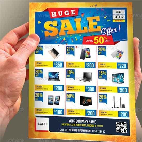 Sales Flyer Template | Sample Templates