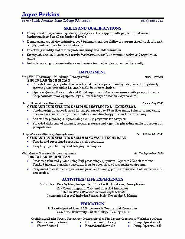 Best College Resume - Best Resume Collection
