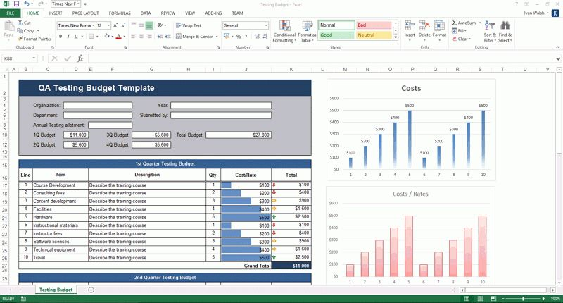 NEW – Software Testing Templates – 50 MS Word + 40 Excel spreadsheets