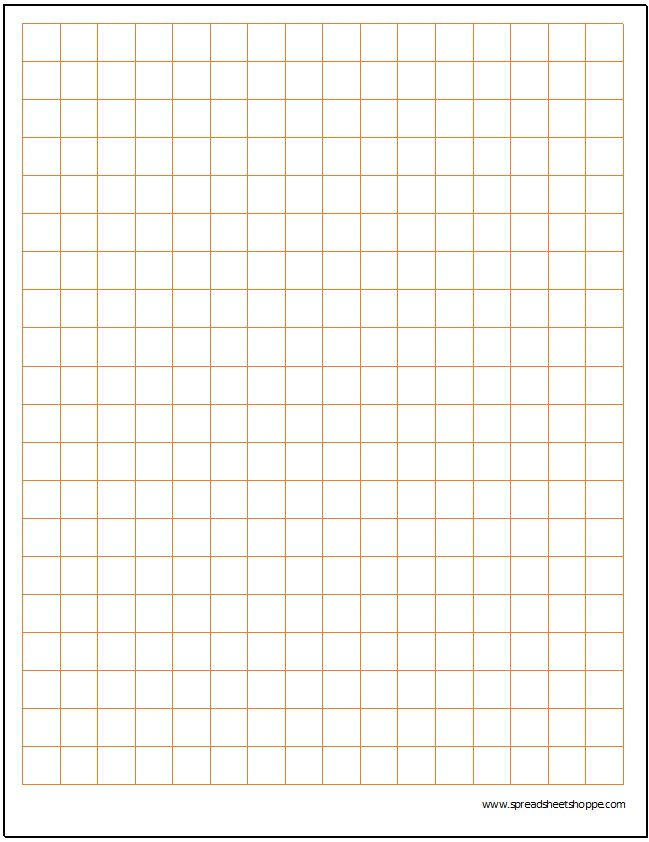 Cartesian Graph Paper Template - Spreadsheetshoppe