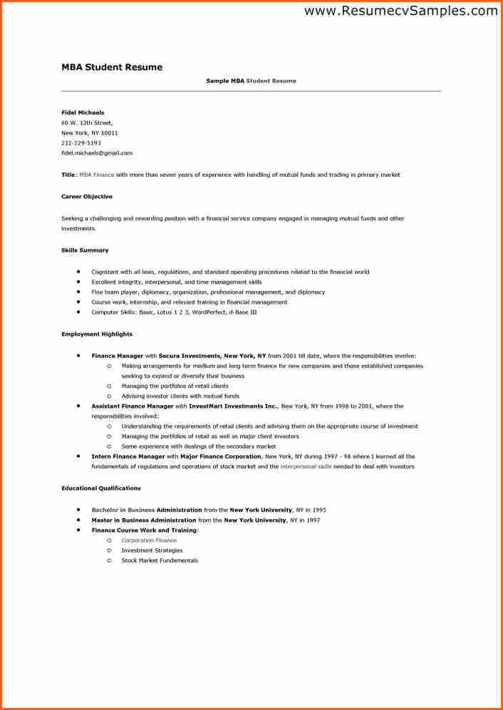 8+ mba student resume - Budget Template Letter