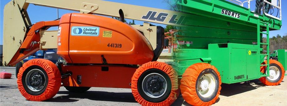No Marks Aerial Lift Products | Non-Marking Tire Covers, Belly ...
