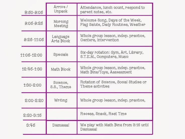 Best 25+ Kindergarten daily schedules ideas on Pinterest | Daily ...