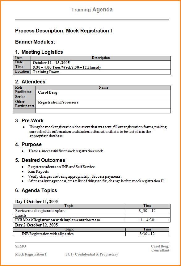 12+ training agenda template | Loan Application Form