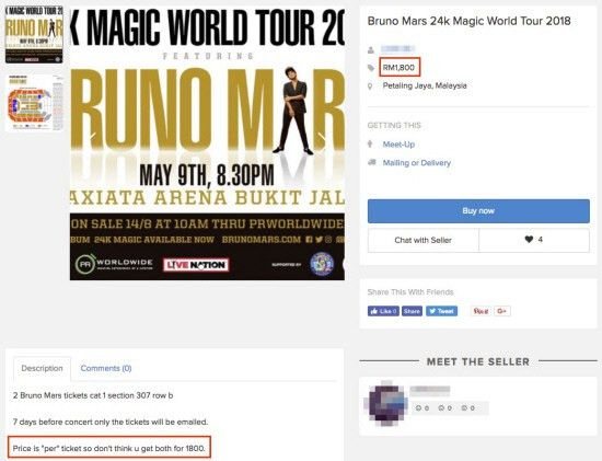 Scalpers make a killing on Bruno Mars concert tickets