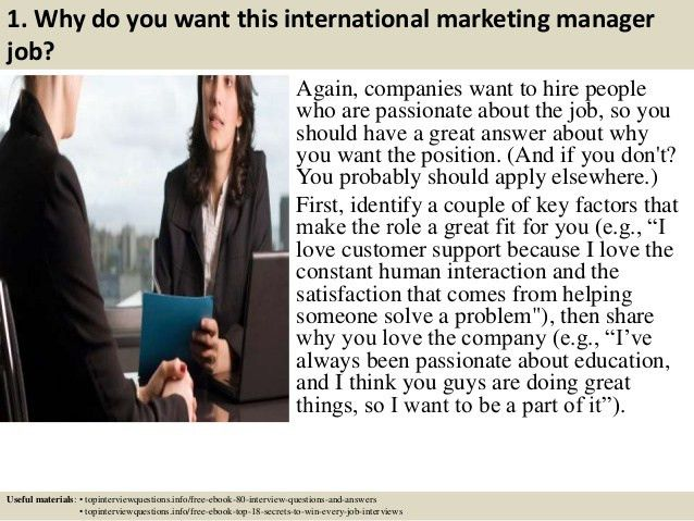 Top 10 international marketing manager interview questions and answers