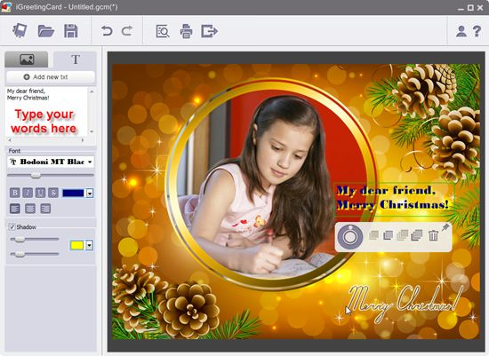 Card Invitation Design Ideas: Add Text On Christmas Card Online ...