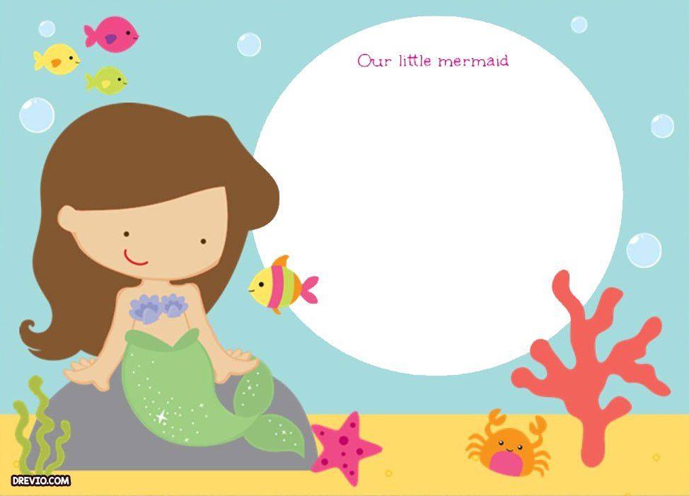 Updated! Free Printable Ariel the Little Mermaid Invitation ...