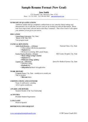 Nurse Practitioner Resume Examples. Sample Resume Staff Nurse ...