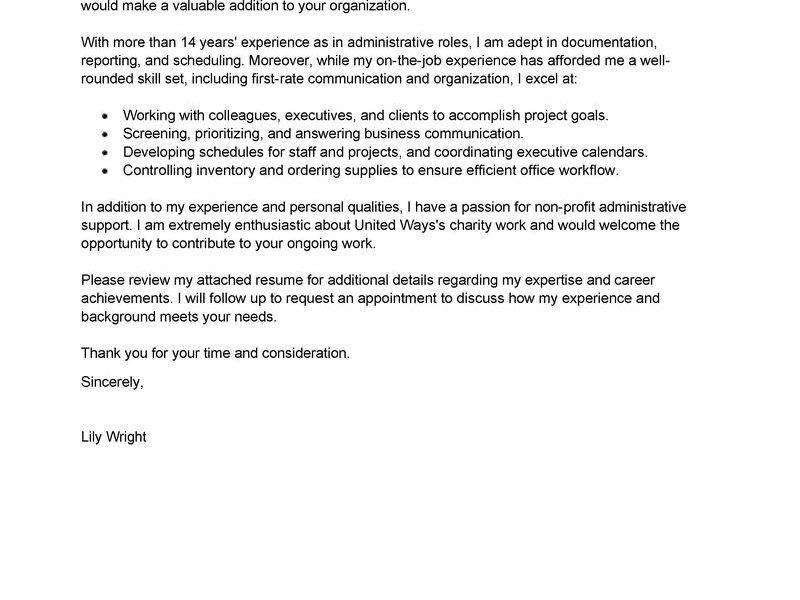 Impressive Inspiration Administrative Cover Letter 2 Best ...