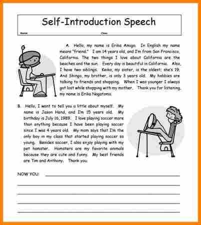 14+ examples of introductory speeches about yourself | resume ...