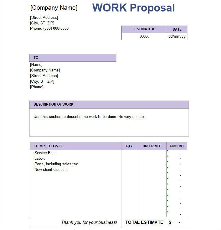 Simple Proposal Template. Proposal Template To Download Sample ...