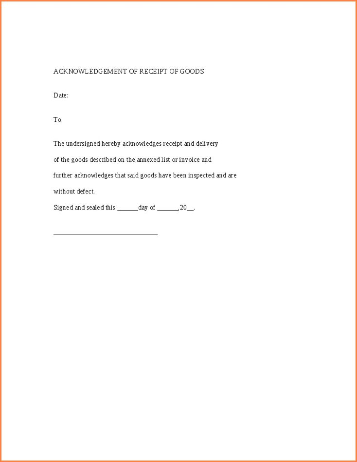 Beautiful Template For Receipt Of Goods Ideas - Best Resume ...