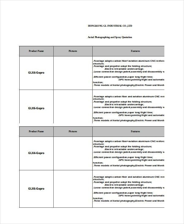 Quotation Template - 8+ Free Word, Excel, PDF Documents download ...