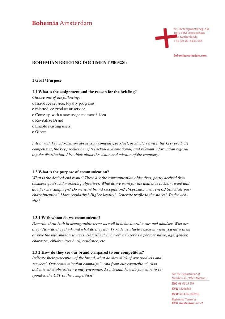 Briefing Document #00328b English