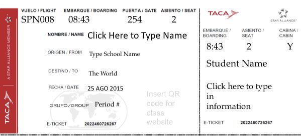 Printable Airline Ticket Template » Home Decoration