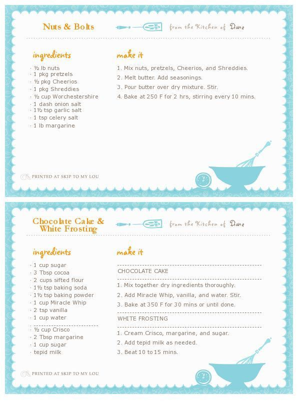 51 best Kitchen Labels & Recipe Cards images on Pinterest ...