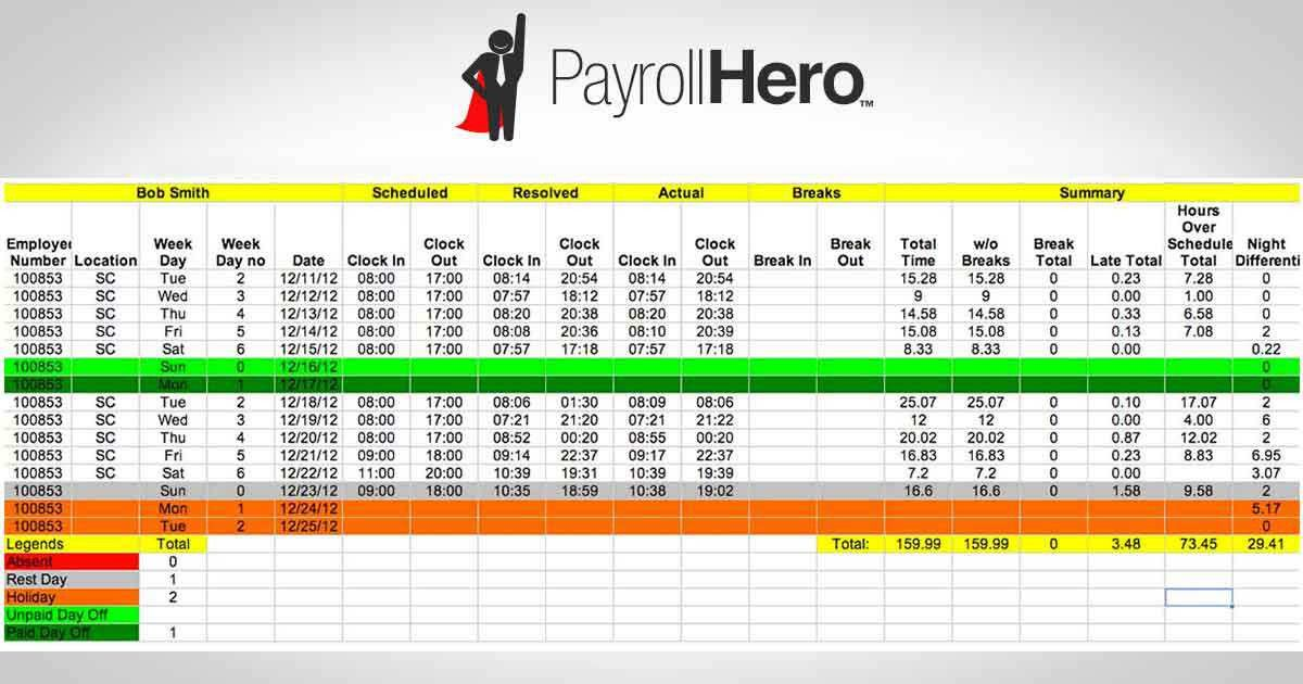 Employee Salary Management System Monthly – Microsoft Word ...