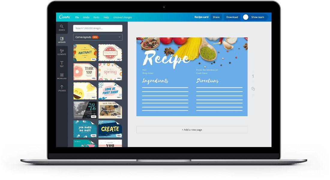 Free Online Recipe Card Maker: Design a Custom Recipe Card - Canva