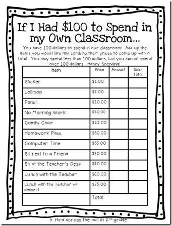 Across the Hall in 2nd: If I Had $100 to Spend in My Own Classroom ...