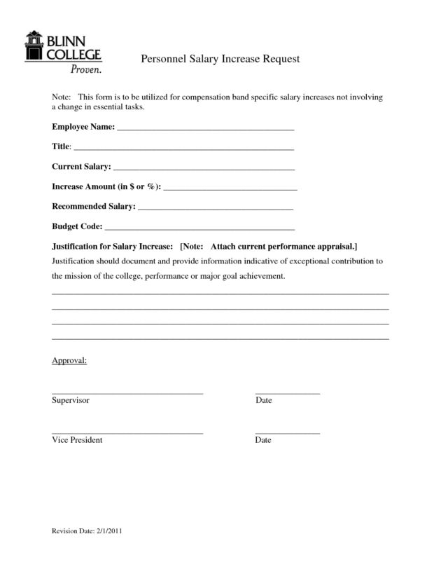 personal Salary Increase request Form sample by bmm18288 : Helloalive