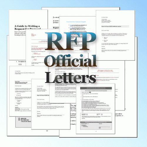 Rfp Response Cover Letter Examples
