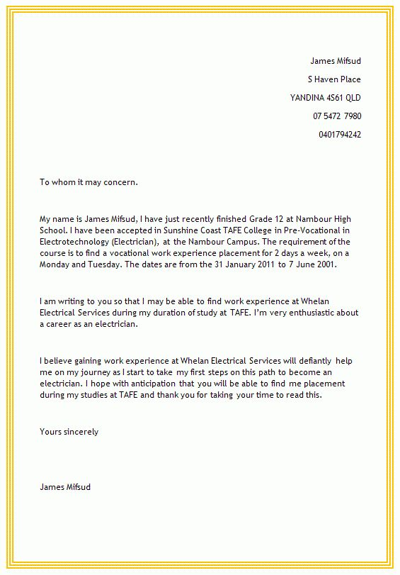 Business Letter Examples how to write a cover letter for a job ...