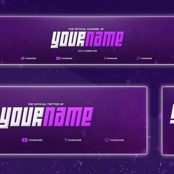 Cool Youtube Banner Template | Banner, Twitter Header, Avatar (Psd ...